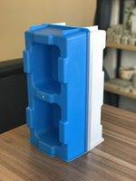 Hollow Interlocking Brick Mold för byggnadshus 400 * 200 * 200 mm