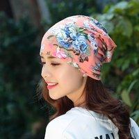 Bonnet / Crâne Casquettes 2021 Femmes Imprimer Fleurs Bonneterie Multifonction Chapeau imprimé Girl Casual Squullies Floral Turban Écharpe Femme Headwra Headwra
