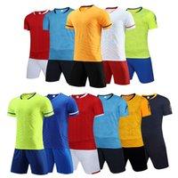 Men Adult soccer jersey short sleeve soccer shirts football uniforms shirt+shorts --S070112-14-3