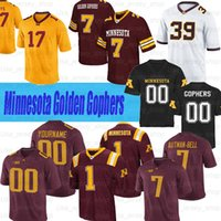 Personalizado Minnesota Golden Gophers Jersey # 2 Tanner Morgan # 7 Eric Decker # 11 Antoine Winfield Jr. Jerseys