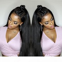 Full Lace Human Hair Wigs Straight Pre Plucked Hairline Baby...