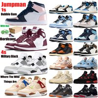 Jumpman 1s 4s Hare Travis Scotts X 6 Medium Olive Chaussures Hommes Basketball UNC Cactus Jack Tinker Noir infrarouge Sport Bleu Oregon Hommes de baskets de sport