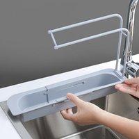 Teleskop-Waschbecken-Küchentablager-Rack Aufbewahrungskorb Bag Wasserhahnhalter Verstellbarer Badezimmerhalter Waschbecken Küche Zubehör 5 V2