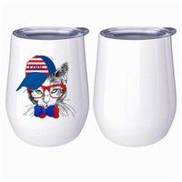 Double 12oz Stainless Steel Swig Eggshell Beer Wine Glass Foreign Trade Gifts Warm Water Cup Spot Wholesale