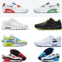air max 90 shoes airmax 90 Erkek Ayakkabı klasik 90 erkek ve kadın ayakkabı Siyah Kırmızı Beyaz Eğitmen Yumuşak Yastık Yüzey Nefes Günlük Ayakkabılar 36-  45