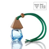 Glass Bottle Travel Storage Bottles Party Supplies Car Perfume Pendant Cosmetic Container Sub-Bottling Mini 8ml KKB7698