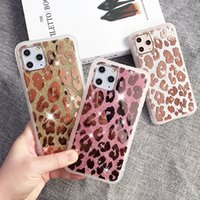 Glittery espelhado case de telefone de leopardo para iphone 11max 7 8 6 s mais max xr x xs rosa flor espelho menina menina se 2020 lábios protetora shell