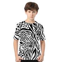 Animal Zebra Print 3D T Shirt Women Men Boys Girls Kids Summer Fashion Short Sleeve Funny Tshirt Graphic Tees Streetwear Clothes