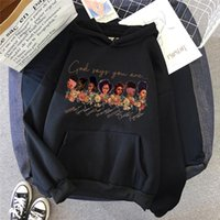 Women's Hoodies & Sweatshirts Reading Book Melanin Graphic Cap Black Girls Magic Pink Sweatshirt Femme Winter Clothes Tracksuit Harajuku Jum