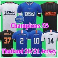 2020 2021 Glasgow Rangers FC Fussball Jersey 20 21 Football Hemden Home Away Dritter Defoe Morelos Kent Champions 55 Erwachsene Kit Thailand Uniform