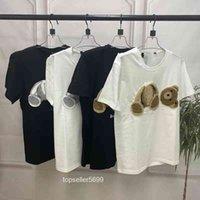 Модный дизайнер вышитый разбитый медведь футболка High End Короткие мужские и женские костюмы