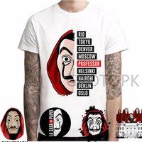 Новая футболка для мужчин Смешной дизайн La Casa de Papel Tshirt Деньги Heist Tee Teers TV Серия Thirts Мужчины Коротким рукавом Дом бумаги Футболка