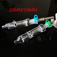 Mini-Nektor-Kollektor-Kit 10mm 14mm kleine Nektor-Kollektoren mit Titan-Nagel-Dab-Dabber-Geschirrglasrohrquarz-Spitze Kunststoff Keck NC12