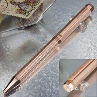 Compruebe AP Metal Classic Matte Slender Slender Octagon Pequeño Barril Escribir Bolígrafo de lujo suave Pen + Gemelos + Caja + 2 Recambios de regalo + Regalo Polícula P