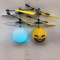 Индукционная подвеска жест Пульт дистанционного управления воздушным судам со светом аккумуляторные красочные летные игрушки