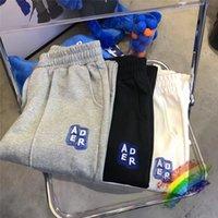 3D Embroidered Pants Men Women Top Quality Patch Sweatpants Blue Stripe Trousers