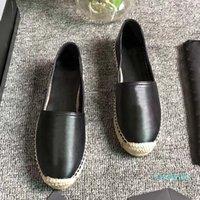 Kadınlar Rahat Ayakkabılar Tasarımcı Ayakkabı Vintage Platformu Espadrilles Kızlar Hakiki Deri Moda Düz Alt Yürüyüş Ayakkabı ile Kutusu Boyutu35-42