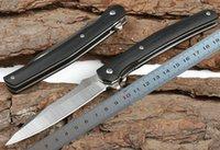 1 pcs novo jj043 flipper faca dobrável 5cr13Mov folha de aço lâmina + preto G10 lidar com esferas de esferas rápido EDC facas de bolso