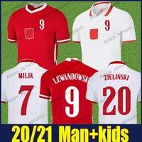 Polska Lewandowski Jerseys de fútbol Glik Milik Zielinski Jersey de fútbol Krychowiak Bednarek National Team Uniforms Moder Grosicki Home Away Camisetas Adulto 20/21 Top