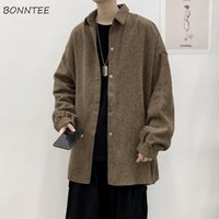 Men's Jackets Men Corduroy Loose Turn-down Collar Single Breasted Casual Fashion Korean Style All-match Simple Ulzzang Harajuku Male