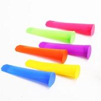 6 Adet / takım IceCream Araçları Silikon Popsicle Kalıpları Buz Pop Maker Ev Yapımı Lolly Kalıp Ile Çıkarılabilir Kapakları Ile Kullanımlık Rastgele Renk KDJK2107