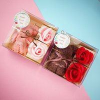 Muttertagsgeschenk Kundengebundene Bärtuch Geschenkbox, Weihnachtseife Blume transparentes Geschenk, kreative und praktische Förderung von Geschenken ood5537