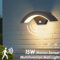 Moden Waterproof LED Wall Lamp Outdoor Motion Sensor Smart L...