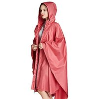 Yuding 1pc Buenas mujeres Patrón al aire libre Calidad Bolso abrigo Hombres Lluvia con capucha adulto Impermeable en para Poncho Stars JLLLSMR CDKCI