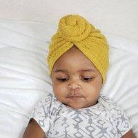 Caps & Hats Solid Waffle Crochet Knit Baby Hat Kids Turban Infant Toddler Born Cap Bonnet Beanies Headwraps For Girls Boy
