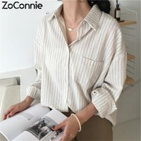 Classic Striped Blouse Women 2021 Spring Shirt Long Sleeve W...