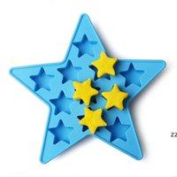 Силиконовые пентаграммы плесень летний бар пить виски звезды формы ледяной плесень ледяной торт печенье звезда формы формы звезды hwe7320
