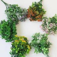 Dekoratif Çiçekler Çelenk Simülasyonu Milan Çimen Yeşil Manzara Dekorasyon Küçük Vahşi Meyve Sahte Bitkiler HOLDİNG