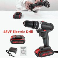 Professiona Electric Drills 48VF Wireless Drill Impact Wrench Screwdriver Double Speed Power Hand Driver Hammer With Battery Tool