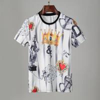 패션 망 디자이너 티셔츠 여름 티셔츠 크레인 인쇄 고품질 T 셔츠 힙합 남성 여성 짧은 소매 티즈 크기 M-XXL