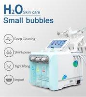 Dermabrasion Oxygeno Máquina facial Facial Cuidado de la piel R 6 en 1 Hydra Peel Hydraderermabrasion Diamond Micro para la clínica de belleza SPA a través de DHL para usted.