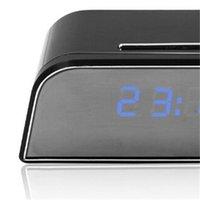 WiFi Mini Cámara Reloj despertador Detección de movimiento de seguridad Niñera IR Table Reloj US Plug HD 1080p 678 K2