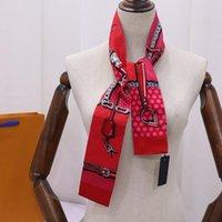2021 yeni high-end kadın moda tasarımları bağlı çanta eşarp bayanlar küçük yay şerit başörtüsü ipek eşarplar wrap ücretsiz kargo