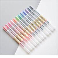12 PCS / LOT 크리 에이 티브 12 색 젤 펜 0.5mm 컬러 잉크 펜 마커 문구 학교 사무실 Qylyxn