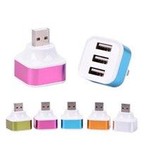 허브 1 USB 남성 3 여성 포트 플라스틱 스플리터 허브 핸드폰 충전 케이블 어댑터 충전기