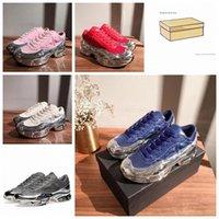 Mit Box 2021 Top Qualität Mode Originale RAF Simons OzweeGo III Sportmänner Frauen Clunky Metallic Silver Sneakers Dorky Casual Shoes v7ok #