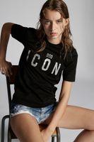 DSQ PHANTOM TURTLE SS Womens Designer T shirt Italian fashion Tshirts Summer DSQ T-shirt Female High Quality 100% Cotton Tops 38156