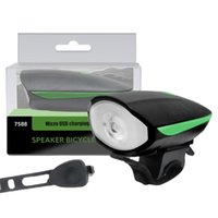Bike Lights Horn Set USB Rechargeable Bicycle Headlights Waterproof Front Light For Outdoor Sports Cycling Accessories