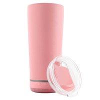 11 colores Nuevo Bluetooth Luz inalámbrica Copa de Música Portátil Taza Deportes Botella de agua Acero inoxidable Doble vacío con cubierta de diapositivas Slot de paja