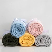 Blankets Simple Acrylic Solid Color Knitting Blanket Bedspread On The Bed Sofa Cover 80x100cm Throw Baby