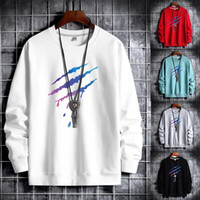 Erkek Hoodies Tişörtü Artı Boyutu M-6XL Moda Harajuku Pamuk Erkekler 6 Renk Hip Hop Hoodie Rahat O-Boyun Baskı Sweatshirt için