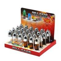 Caja de la caja de la caja de la caja de la caja de la caja de la caja de la caja de cristal de 57 mm con una cuchara de metal Spice Bullet Rocket Snortal Sniffer fumar
