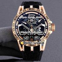 Relógios Designer Excalibur Aranha RDDBEX0750 Mens Automático Assista Esqueleto Dial Titanium Rose Gold Case Strap HWRD HWRD Discount