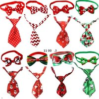 Christmas Pet Dog Neckties New Year Ties Handmade Adjustable Pet Dog Ties Set Festival Neckties Dog Accessories Supplies EWE9289