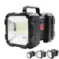 Lámpara de luz de búsqueda portátil LED LED recargable Doble cabeza Super brillante Outdoor Outdoor Emergencia Luz de advertencia