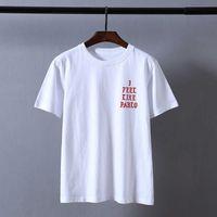 Kanye West Pablo T рубашка мужчины, как Paul Print с короткими рукавами сезон 3 футболки хип-хоп рэпер Tee Tops X0621